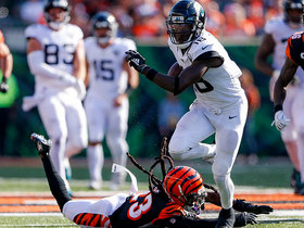 Chris Conley muscles through Bengals' secondary for 47-YARD catch and run