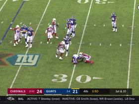 Chandler Jones sneaks up on Daniel Jones for sack