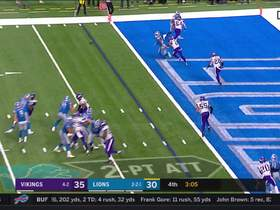 Mike Hughes breaks up Lions 2-point conversion attempt