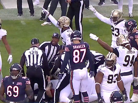 Saints D recovers forced fumble caused by Marcus Davenport