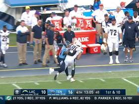 Rivers' sideline loft hits Henry perfectly in stride for 23 yards