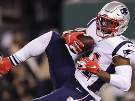 Duron Harmon high-points Darnold's misfire for Pats' third turnover