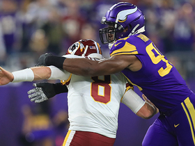 Danielle Hunter knocks ball loose from Case Keenum on strip-sack