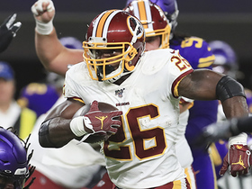 Adrian Peterson jukes out two defenders on powerful first-down run