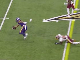 Bisi Johnson spins away from would-be tackler for quick 16-yard grab