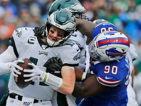 Shaq Lawson hunts down Wentz for sack