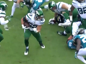 Easy money! Cashman scoops up fumble after Jets' strip-sack