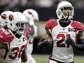 Patrick Peterson looks like a WR for sideline INT of Drew Brees