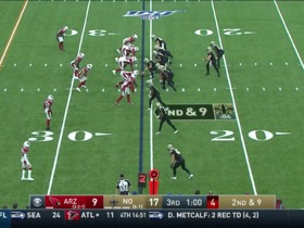 Brees locks in on Ginn for 28-yard gain