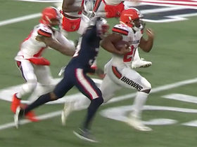 Can't-Miss Play: Pats turn Nick Chubb's epic run into critical red-zone turnover