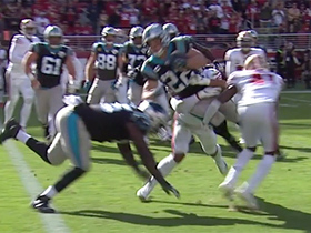 McCaffrey goes AIRBORNE for Panthers' two-point conversion