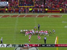 Harrison Butker's 50-yard FG try is no good after hooking left
