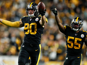 T.J. Watt swims by Fins' OL to smother Fitzpatrick for strip-sack