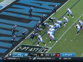 Tannehill's incomplete two-point conversion maintains Carolina's two-possession lead