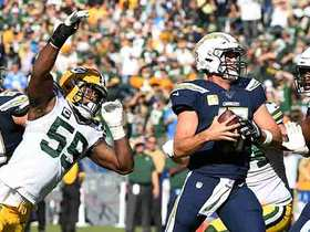Packers generate pressure with four to sack Philip Rivers