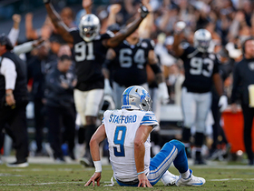 Raiders' D breaks up Stafford's fourth-down throw to seal the win