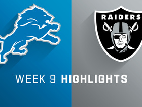 Lions vs. Raiders highlights | Week 9