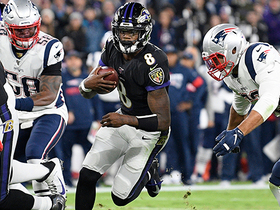 Lamar Jackson slices through Pats' D on speedy 18-yard sprint