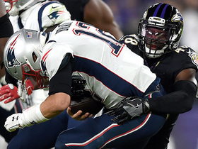 Ravens' blitz gets home to Brady for early third-down sack