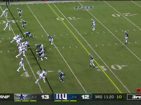 Jaylon Smith throws up the 'X' after dropping Jones for third-down sack