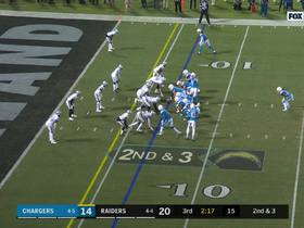 Karl Joseph times blitz perfectly to drop Gordon in backfield