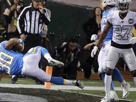 Rivers hits Ekeler with sidearm TD dart to give Chargers a fourth-quarter lead