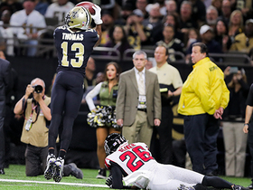 Michael Thomas shows off toe drag on 17-yard reception