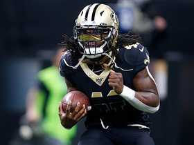 Alvin Kamara shows off speed on first run since injury