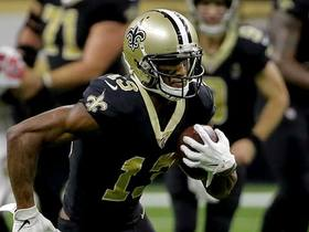 Michael Thomas makes 14-yard catch from knees