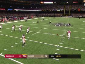 Deonte Harris bolts down sideline for 46-yard kick return