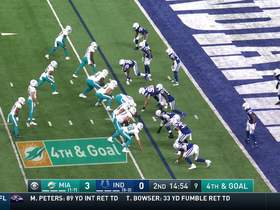 Colts stonewall Myles Gaskin's fourth-down race to end zone