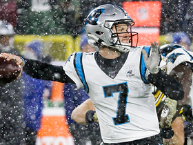 Kyle Allen delivers CLUTCH fadeaway fourth-down throw to D.J. Moore