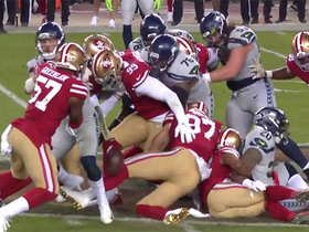 Niners win scrum for the football after Rashaad Penny's fumble