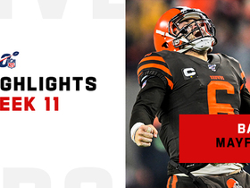 Baker Mayfield's best throws on 'TNF' vs. Steelers | Week 11