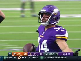 Andrew Sendejo jumps Brandon Allen's throw near goal line for INT