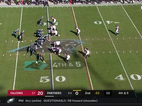 Kyle Allen scrambles and fires to Wright for HUGE fourth-down conversion