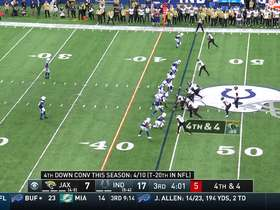 Kenny Moore makes fantastic read to deflect Foles' fourth-down throw