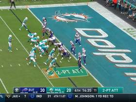 Bills D stuffs Miami's shovel pass two-point conversion play