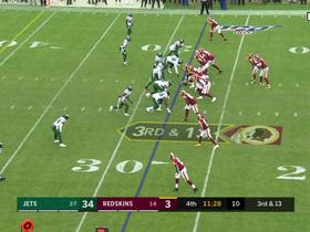 Haskins hits Sprinkle in traffic for first down