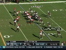 Derek Carr drops 21-yard pass in bucket to Tyrell Williams