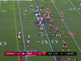 Garoppolo's tight-window special hits Emmanuel Sanders in stride for 14 yards