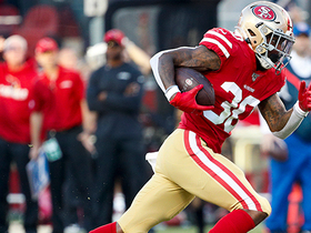 Jeff Wilson's TD catch and run gives Niners a late lead