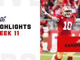 Jimmy Garoppolo's best passes from career day | Week 11