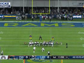 Eddy Pineiro's 48-yard field goal try misses wide left