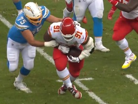 Big-man INT! Rivers' errant pass ends in Chiefs DT's lap