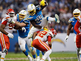 Melvin Gordon elevates over Tyrann Mathieu with sick hurdle