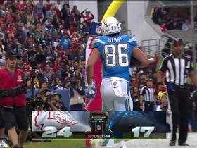 Bolts convert two-point try after Chiefs lose track of Hunter Henry