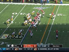 Kerrith Whyte bursts down sideline for 16-yard gain into red zone