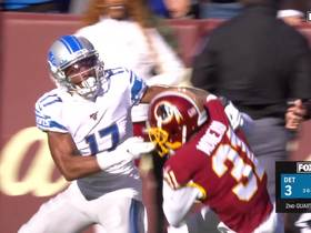 Fabian Moreau steals Driskel's deep ball for Redskins' INT