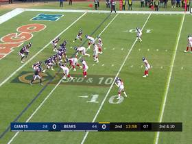 Mitchell Trubisky avoids safety, maneuvers for third-down pickup